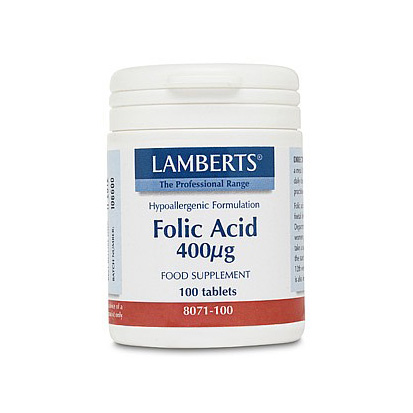 Lamberts Folic Acid 400mcg Tablets (100)