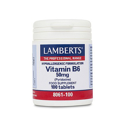 Lamberts Vitamin B6 50mg Pyridoxine Tablets (100)