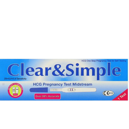 Clear & Simple Pregnancy 1 Test